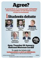 A rainy evening last week in the Welsh capital heralded the first iStudent debate chaired by Oliver Duff, editor of i.