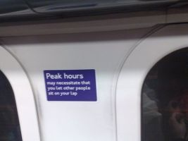A fake sign put up by pranksters on the London underground has been causing widespread amusement...