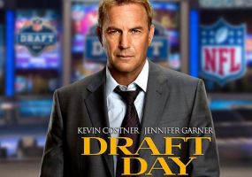 Starring Kevin Costner, Jennifer Garner and Frank Langella, Draft Day is the first football movie made with the NFL's approval and backing, which means no rip off names or jerseys. Draft Day is a behind the scenes look at what goes on in a NFL war room on (you guessed it) draft day.