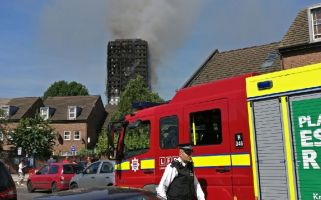 The London Fire Brigade confirmed that 200 firefighters and 40 engines were sent to the burning block of flats which have 120 apartments.