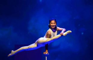 Just watching these amazing acrobats will leave you feeling exhausted.