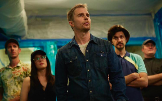 Sam Rockwell and Ben Schwartz are criminals across the pond in this comic heist thriller