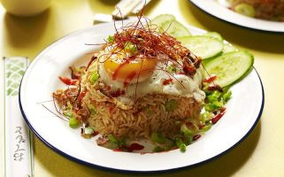 Nasi goreng, an Indonesian rice dish, is ideal for an easy-to-prepare meal after a long day of lectures.