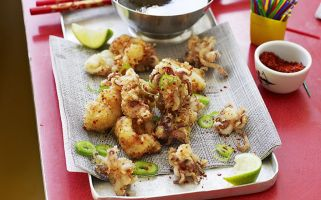 This Korean salt, chilli and lime squid recipe is super quick to make.