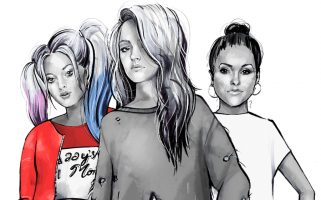 Original illustrations for 'This is how Mean Girls would look if it were set in 2019'