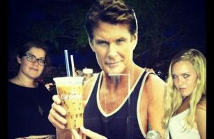 Baywatch turns crimewatch as fans begin stealing cutouts of David Hasselhoff.