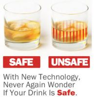 Nightclubs could get a little safer now a new series of barware that can detect date rape drugs has been designed.