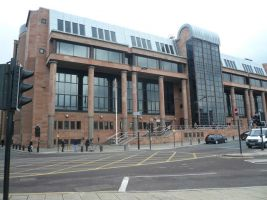 A Northumbria University student was robbed at knifepoint in Newcastle city centre.