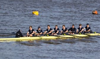 No unexploded WWII shell was going to stop this oar-some afternoon of racing.
