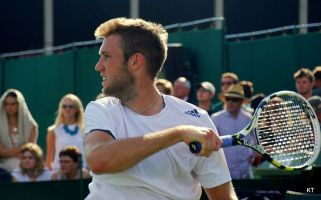 Jack Sock attempted to throw him his towel, resulting in a tussle.