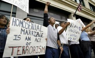 Seeing gay marriage will make others gay and it will make straight marriage less meaningful.