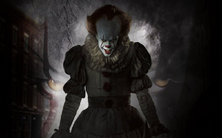 The new footage heavily features the child-killing clown.