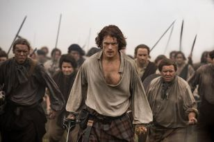 Outlander's long-awaited season opener is full of blood, sweat, and tears.
