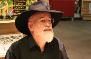 The exhibition is called HisWorld, after Pratchett's Discworld series
