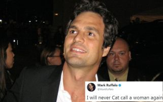 You'll stop catcalling women will you, Mark Ruffalo? How very big of you.