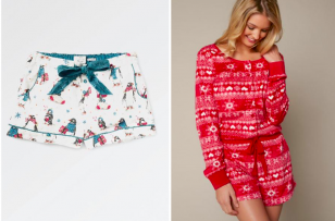 From novelty mince pie prints to sexy satin - we've got your Christmas Eve attire sorted.