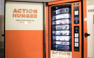 Action Hunger is providing basic needs for homeless people through the machines.