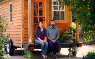 Adventure couple Alexis and Christian talk sustainable living and the perks and quirks of living in a tiny mobile home.