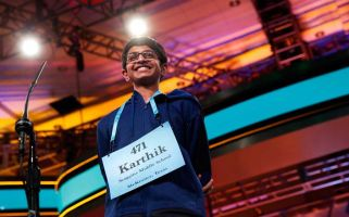 Karthik Nemmani won a national spelling bee with the word koinonia.