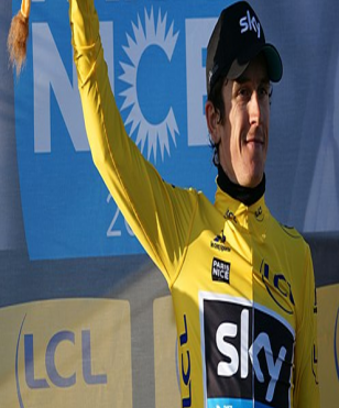 Thomas leads his teammate Chris Froome by one minute 25 seconds.