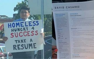 Pictures of David Casarez and his resume were shared hundreds of thousands of times.