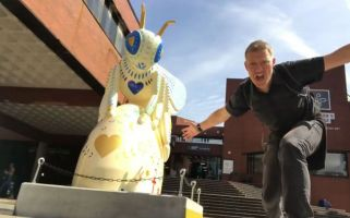 Poet Paul Jenkins was so inspired by a new art trail in Manchester that he wrote a poem matched to the sculptures of giant bees.