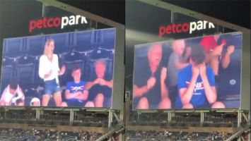 Rudy Rendon was at Petco Park in California for a baseball game when he caught this hilarious family moment.