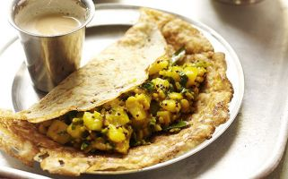 From Fergal Connolly's Fakeaway Manual, this masala dosa recipe is tasty and not too hard to make.