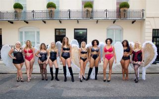 The size-inclusive lingerie presentation has taken place in the same week as the annual Victoria's Secret Fashion Show.