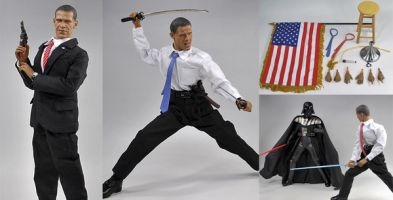 Owen Shipton gives you a dose of web weirdness. This week, a Barack Obama Action Man - complete with a samurai sword, American flag and, erm, picnic set.