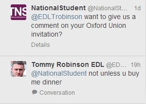 Tommy Robinson on Twittter